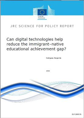 Can digital technologies help reduce the immigrant-native educational achievement gap?