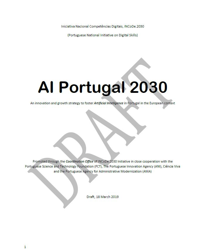 AI Portugal 2030 - An innovation and growth strategy to foster Artificial Intelligence in Portugal in the European context